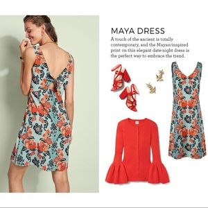 CAbi Maya Aqua Mist Floral Tank Dress NWOT
